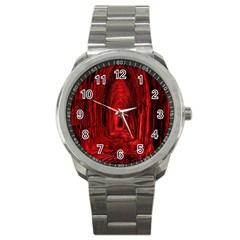 Tunnel Red Black Light Sport Metal Watch
