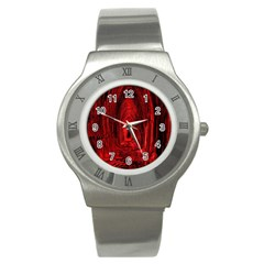 Tunnel Red Black Light Stainless Steel Watch