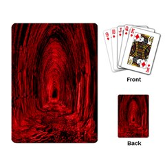 Tunnel Red Black Light Playing Card