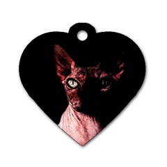 Sphynx cat Dog Tag Heart (Two Sides)