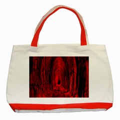 Tunnel Red Black Light Classic Tote Bag (Red)