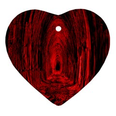 Tunnel Red Black Light Heart Ornament (Two Sides)