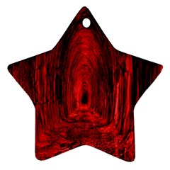 Tunnel Red Black Light Star Ornament (two Sides)