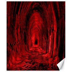 Tunnel Red Black Light Canvas 20  x 24