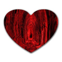 Tunnel Red Black Light Heart Mousepads