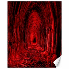 Tunnel Red Black Light Canvas 11  x 14