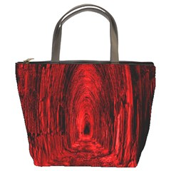 Tunnel Red Black Light Bucket Bags