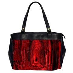 Tunnel Red Black Light Office Handbags (2 Sides)