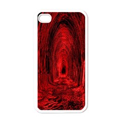 Tunnel Red Black Light Apple Iphone 4 Case (white)