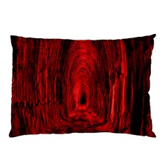 Tunnel Red Black Light Pillow Case (Two Sides)
