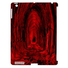Tunnel Red Black Light Apple iPad 3/4 Hardshell Case (Compatible with Smart Cover)