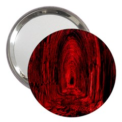 Tunnel Red Black Light 3  Handbag Mirrors