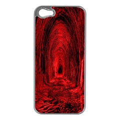 Tunnel Red Black Light Apple iPhone 5 Case (Silver)