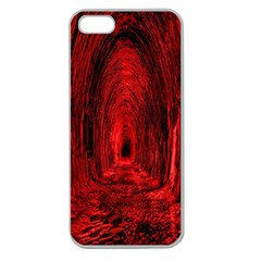 Tunnel Red Black Light Apple Seamless iPhone 5 Case (Clear)