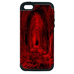 Tunnel Red Black Light Apple iPhone 5 Hardshell Case (PC+Silicone)