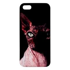 Sphynx cat Apple iPhone 5 Premium Hardshell Case
