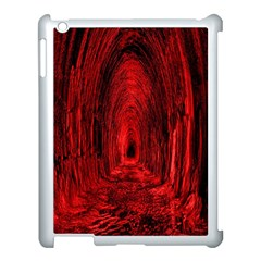 Tunnel Red Black Light Apple iPad 3/4 Case (White)