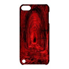 Tunnel Red Black Light Apple iPod Touch 5 Hardshell Case with Stand