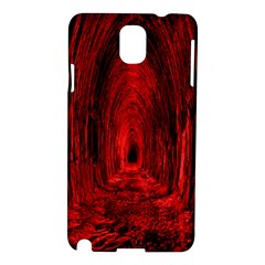 Tunnel Red Black Light Samsung Galaxy Note 3 N9005 Hardshell Case