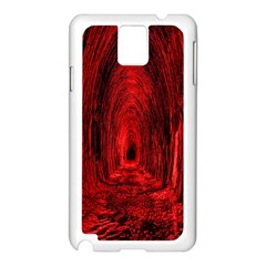Tunnel Red Black Light Samsung Galaxy Note 3 N9005 Case (White)