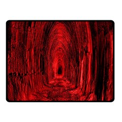 Tunnel Red Black Light Double Sided Fleece Blanket (Small)
