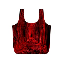 Tunnel Red Black Light Full Print Recycle Bags (S)