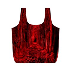 Tunnel Red Black Light Full Print Recycle Bags (M)