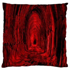 Tunnel Red Black Light Standard Flano Cushion Case (One Side)