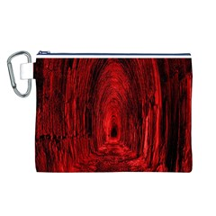Tunnel Red Black Light Canvas Cosmetic Bag (L)