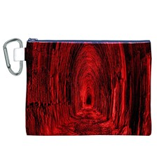 Tunnel Red Black Light Canvas Cosmetic Bag (XL)