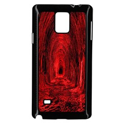 Tunnel Red Black Light Samsung Galaxy Note 4 Case (Black)
