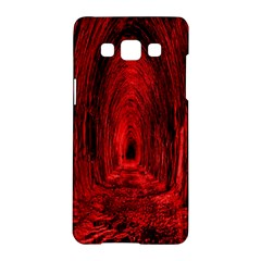 Tunnel Red Black Light Samsung Galaxy A5 Hardshell Case
