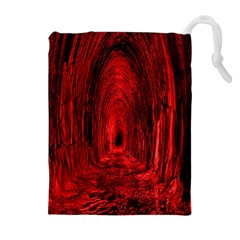 Tunnel Red Black Light Drawstring Pouches (extra Large)
