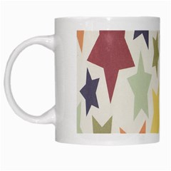 Star Colorful Surface White Mugs