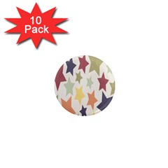 Star Colorful Surface 1  Mini Magnet (10 pack)