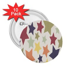 Star Colorful Surface 2.25  Buttons (10 pack)