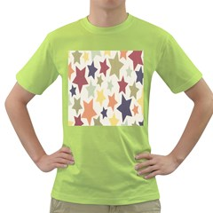 Star Colorful Surface Green T Shirt