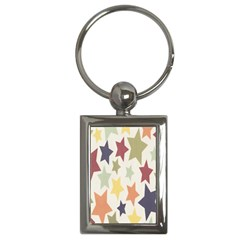 Star Colorful Surface Key Chains (Rectangle)