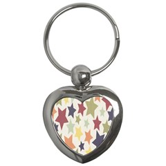 Star Colorful Surface Key Chains (Heart)