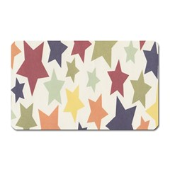 Star Colorful Surface Magnet (rectangular)