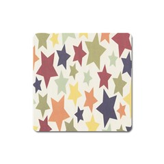 Star Colorful Surface Square Magnet