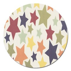 Star Colorful Surface Magnet 5  (round)