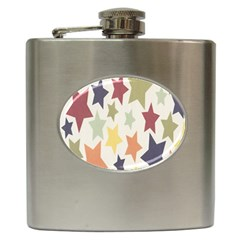 Star Colorful Surface Hip Flask (6 oz)