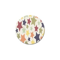 Star Colorful Surface Golf Ball Marker (4 Pack)
