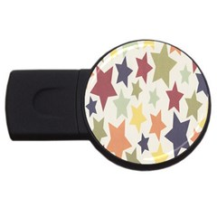 Star Colorful Surface Usb Flash Drive Round (2 Gb)