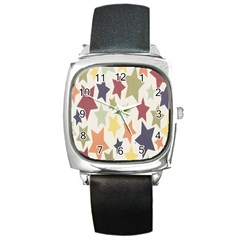 Star Colorful Surface Square Metal Watch