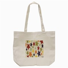 Star Colorful Surface Tote Bag (cream)
