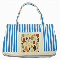 Star Colorful Surface Striped Blue Tote Bag