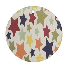 Star Colorful Surface Round Ornament (two Sides)