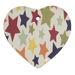 Star Colorful Surface Heart Ornament (Two Sides)